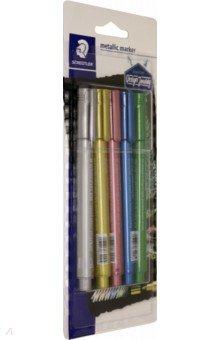 Маркеры Металлик, набор из 5 шт. (8323-SBK5)Маркеры для письма на досках и CD цветные<br>Маркеры Металлик, набор из 5 шт.<br>Цвета: зеленый, голубой, розовый, золотой, серебряный.<br>Упаковка: блистер.<br>Сделано в Германии.<br>