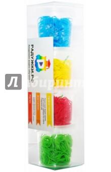 Комплект резинок для плетения №2 (1200 штук, голубые, желтые, красные, зеленые)