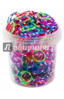 Резинки для плетения, в стакане, 300 штук, Микс в белую точку (10-30)Плетение из резиночек<br>Резинки для плетения.<br>В комплекте: 300 резинок, s-образные клипсы, крючок.<br>Разные цвета.<br>Материал: полимерные материалы.<br>Упаковка: пластмассовый стакан.<br>