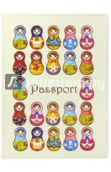 Обложка для паспорта Твой стиль. Матрешки (2203.Т8)Обложки для паспортов<br>Обложка для паспорта.<br>Кожзам с полноцветным рисунком.<br>Размер: 188х134 мм.<br>