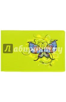 Обложка для студенческого билета Твой стиль. Бабочка (2757.Т1)Обложки для студенческих билетов<br>Обложка для студенческого билета.<br>Полноцветный рисунок по кожзаму.<br>Размер: 78х216 мм.<br>