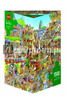Puzzle-1500 Карнавал в Рио (29752)Пазлы (1500 элементов)<br>Пазл-мозаика.<br>Состоит из 1500 элементов.<br>Правила игры: вскрыть упаковку и собрать игру по картинке.<br>Размер собранной картинки: 80х60 см.<br>Не давать детям до 3-х лет из-за наличия мелких деталей.<br>Упаковка: картонная коробка.<br>Производитель: Чехия.<br>