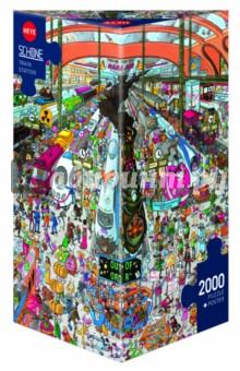 Puzzle-2000 Железнодорожный вокзал (29730)Пазлы (2000 элементов и более)<br>Пазл-мозаика.<br>Состоит из 2000 элементов.<br>Правила игры: вскрыть упаковку и собрать игру по картинке.<br>Размер собранной картинки: 69х97 см.<br>Не давать детям до 3-х лет из-за наличия мелких деталей.<br>Упаковка: картонная коробка.<br>Производитель: Чехия.<br>