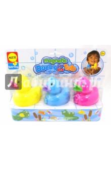 Игрушки для ванны Магнитные уточки (823D)Игрушки для ванной<br>Игрушка для самых маленьких - 3 разноцветные уточки.<br>Плавают в воде. Внутри уточек - магнит, поэтому они могут прицепляться друг к другу и плавать вместе, как на буксире.<br>Для детей от 2-х лет. <br>Изготовлено: Китай.<br>