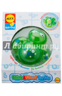 Игрушка для ванны Черепашка (842T)Игрушки для ванной<br>Плавает в воде и мигает нежным светом (зажигается лампочка). Забавная игрушка для ванны превратит купание в настоящую игру и удовольствие.                                                                 <br>Размер игрушки: около 12 см.                                                           <br>Материал:  ПВХ.                                                     <br>Батарейки: AG13 или LR44 (3 штуки, входят в набор).  <br>Для детей от 12-ти месяцев.<br>Изготовлено: Китай.<br>