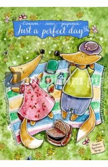Блокнот Just a perfect day, А6+Блокноты средние Линейка<br>Яркие удобные блокноты с авторскими лисами от художницы Кристины Крокус. Красочные развороты, удобный формат, приятная на ощупь бумага превращают блокнот в оригинальный подарок не только для близких, но и для себя любимой!<br>