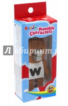 Волк. Подвижный персонаж (P3009)Животный мир<br>Подвижная фигурка - 3D пазл из мягкого пластика.<br>Материал: ЭВА,<br>Упаковка6 картонный блистер.<br>Для детей от 4 лет.<br>Сделано в Тайване.<br>