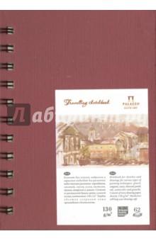 """Блокнот """"Travelling sketchbook"""" (62 листа, А6, пружина, гранат) (БЛ-5658) Лилия Холдинг"""