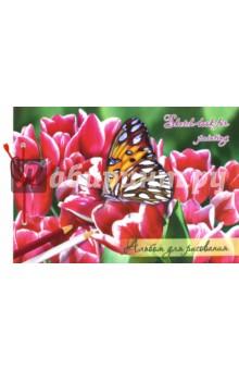 """Альбом для рисования на сутаже """"Бабочки"""" (30 листов, А4, в ассортименте) (АЛ 009/30) Лилия Холдинг"""