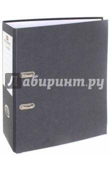 Папка-регистратор (черная) (221395)Папки-регистраторы<br>Папка с арочным механизмом.<br>Формат: А4.<br>Механизм на 2  арках <br>Цвет: черный. <br>Материал: картон, металл.<br>Сделано в России.<br>