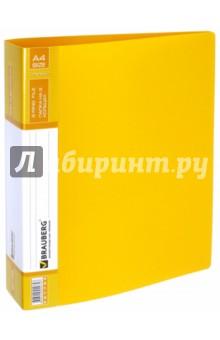 Папка 2 кольца (желтая, 180 листов) (221795) Brauberg