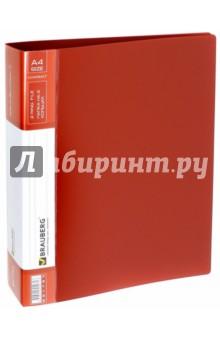 Папка 2 кольца (красная, 180 листов) (221793) Brauberg