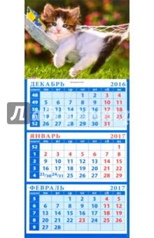 """Календарь 2017 """"Котенок в гамаке"""" (34718)"""