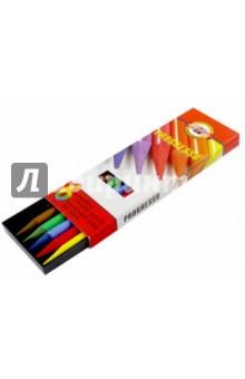 Карандаши укороченные Progresso (6 цветов) (8755)Цветные карандаши 6 цветов (4—8)<br>Карандаши цветные укороченные.<br>Круглые. <br>Количество цветов: 6.<br>Без дерева.<br>Сделано в Чехии.<br>