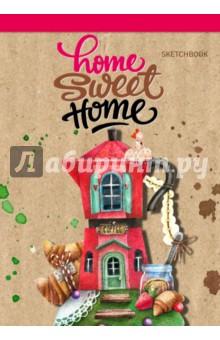 Блокнот Home sweet home! Coffee, А5Блокноты большие нелинованные<br>Очаровательные скетчбуки для ваших зарисовок! Специальный удобный вертикальный формат позволяет использовать максимум пространства для вашего творчества. А авторские рисунки создают особое солнечное настроение.<br>