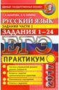 ЕГЭ 2017. Русский язык. Практикум. Подготовка к выполнению заданий части 1. Задания 1-24