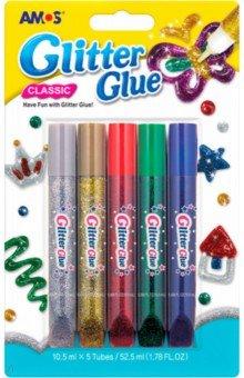 Клей оформительский Классический, с блестками. 5 цветов (20637)Сопутствующие товары для детского творчества<br>Клей оформительский Классический, с блестками. <br>5 цветов: серебряный, золотой, красный, зеленый, синий.<br>Для детей от трех лет.<br>