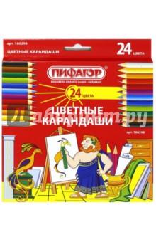 Карандаши (24 цвета) (180298) Самсон-Пифагор