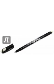 Ручка шариковая со стираемыми чернилами, черная (826103)Ручки шариковые простые черные<br>Ручка шариковая со стираемыми чернилами.<br>Цвет чернил: черный.<br>Корпус пластиковый с резиновыми вставками.<br>