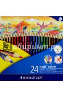 Карандаши Noris Club, 24 цвета Wopex Johanna Basford (185C24)Цветные карандаши более 20 цветов<br>Карандаши Noris Club, 24 цвета Wopex Johanna Basford.<br>Яркие насыщенные цвета.<br>Грифель не ломается и не крошиться при заточке. <br>Упаковка: блистер, картон.<br>