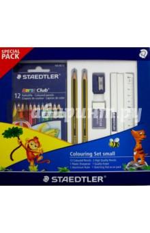 Набор для рисования: цветные карандаши, точилка, чернографитные карандаши, ластик, альбом (61TCPL2)Наборы для рисования<br>Набор для рисования: цветные карандаши - 12 шт., точилка, чернографитные карандаши - 2 шт., ластик - 1 шт., альбом для рисования.<br>Упаковка: коробка.<br>