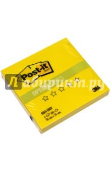Блок самоклеящийся желтый неон (76х76 мм, 100 листов) (654-ONY)Бумага для записей с липким слоем<br>Бумага для заметок с клейким краем Post-it OPTIMA в виде компактного куба не займёт много места на столе и в нужный момент всегда окажется под рукой. Клеевая система Post-it обеспечивает крепление стикеров к бумаге любого типа.<br>Сделано в России.<br>