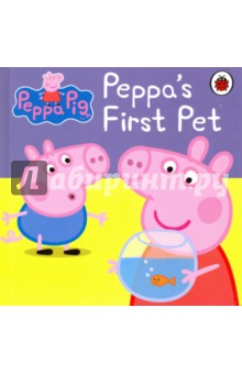 Peppa Pig. Peppas First PetЛитература на иностранном языке для детей<br>Peppa Pig: Fire Engine is a colourful and engaging story book based on the popular children s series. Splish, splash! Oh dear, Peppa Pig s pet fish, Goldie, isn t well. Join Peppa Pig, George and Mummy Pig in this delightful children s storybook, as they take an exciting bus ride to the vet to find out why Goldie isn t eating her food. This story book features your favourite characters from Peppa Pig and is perfect for sharing at school or for snuggling up at bedtime! The Peppa Pig range of books are fun, interactive and educational, ideal for encouraging children to start to read by themselves. Titles available from Ladybird include: Peppa Pig: The Fire Engine, Peppa Goes to the Library, Peppa s Washing Day and Daddy Pig s Fun Run.<br>