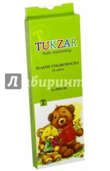 Карандаши цветные пластиковые (18 цветов) (TZ 5951-18) TUKZAR
