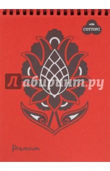 """Блокнот """"Premium Red. Красный"""" (30 листов, А5, пружина) (БРr-6235) Лилия Холдинг"""