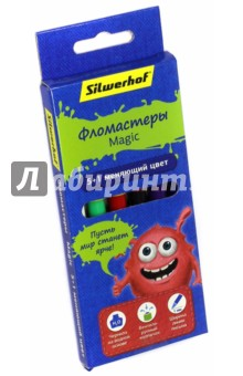 """Фломастеры """"Magic. Джинсовая коллекция"""" (5+1 шт) (867207-06) Silwerhof"""