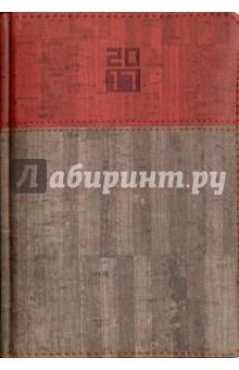 Ежедневник датированный на 2017 год (А5, пробковый серо-коричневый) (41645) Феникс+