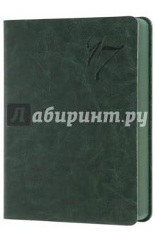 """Ежедневник датированный на 2017 год """"Сариф"""" (А6, зеленый) (42559) Феникс+"""
