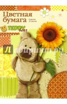 Бумага цветная (16 листов, 8 цветов, 4 вида) (11-416-174 Д) Альт