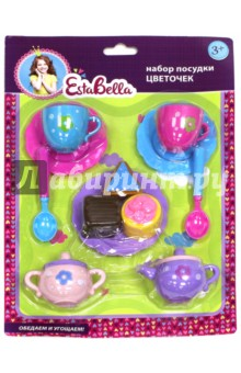 """EstaBella. Набор посудки """"Цветочек"""" с пирожными (64713) от Лабиринт"""