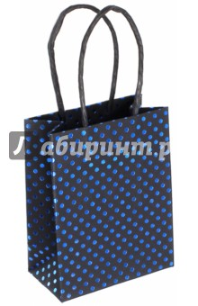 "Пакет подарочный ""Горохи"" (11х6х14 см) (40104)"