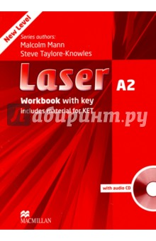 Laser. A2 Workbook with key (+CD)Английский язык<br>Laser is now a five-level course, with the addition of two new levels, A1+ and A2, designed to cater to younger exam students, and now covers the entire span of secondary education. It is the perfect preparation for students still at school and working towards school-leaving exams and the Cambridge ESOL, KET, PET and FCE exams. <br>The vibrant topic-based units cover the lexical and grammatical syllabus of the Breakthrough to Vantage levels of the Council of Europe s Common European Framework. The course integrates development of all the language skills: reading, writing, listening and speaking, and regular revision sections check continuous progress. <br>Each Student s Book comes with a CD-ROM that reinforces the structures and vocabulary learnt in each unit. Each Workbook is complete with Audio CD, making it ideal for homework, and the Teacher s Book includes a DVD-ROM with tests, a test generator and teacher-training videos. Class Audio CDs are also available. <br>Laser A2 <br>Laser A2 offers guidance and practice in KET-type exam tasks as well as all the usual Laser features - comprehensive vocabulary and grammar coverage, skills development and structured writing guidance. KET-type exams tasks are included in every unit.<br>3 edition.<br>