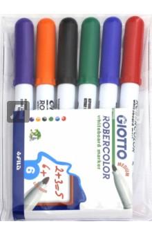 Набор маркеров для белой доски, 6 цветов, круглые, средние (414200) Fila