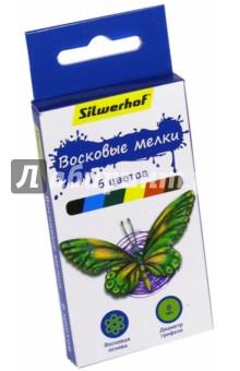 """Восковые мелки """"Бабочки"""" (6 цветов) (884169-06)"""