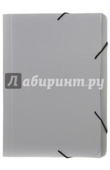 """Папка-портфель на резинке """"Basic"""", А4, серый (255078-11)"""