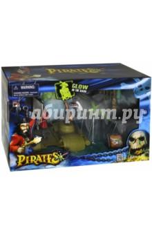 Набор Пираты. Капитан на плоту (505203-1)Люди<br>Набор: ПИРАТЫ. Капитан на плоту. <br>Замечательный игровой набор поможет ребенку погрузиться в увлекательный мир пиратов и захватывающие приключения. Прекрасно проработанные детали игрушек усилят эффект.                       <br>В наборе: плот с пиратским флагом и подзорной трубой, фигурка капитана пиратов с попугаем, скелет (светится в темноте), акула (может открывать и закрывать пасть), палица и сабля капитана и еще целый арсенал пиратского оружия.                                                                                  <br>Не рекомендовано детям младше 3-х ле. Содержит мелкие детали.<br>Для детей от 3х лет.                                                                  <br>Размер упаковки: 36,83 х 12,7 х 24,13 см.                                                                        <br>Материал: пластмасса.                                                               <br>Изготовлено: Китай.<br>