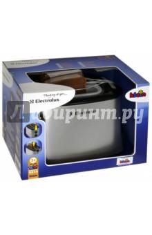 Тостер Electrolux (со звуковыми эффектами) (9215)Бытовая техника<br>Игрушечная копия тостера ELECTROLUX. Вставьте игрушечные (пластмассовые) кусочки хлеба, входящие в комплект, в тостер. Когда время закончится, раздастся звонок и тосты сами выпрыгнут из тостера.                                                                                 <br>В наборе: тостер, хлеб.     <br>Не рекомендовано детям младше 3-х лет. Содержит мелкие детали.                                                  <br>Для детей от 3х лет.                                                                 <br>Размер упаковки:  17.2х12.1х14.9 см.                              <br>Материал: пластик.                                                                 <br>Работает без батареек.                                                             <br>Производитель: Германия.<br>.<br>