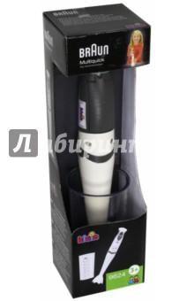 Блендер Braun (9624)Бытовая техника<br>Игрушечная копия модели блендера BRAUN, с мерным стаканом. Издает звук работающего прибора, крутится пластиковая лопасть.<br>Венчик вращается при нажатии кнопки.<br>Со съемной смесительной насадкой. <br>Работает от 2х1,5 V (В комплект не входят).<br>Не рекомендовано детям младше 3-х лет. Содержит мелкие детали.<br>Страна изготовитель: Китай.<br>