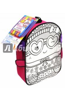 Набор Раскрась рюкзак Симпатяшка , 5 фломастеров (510G)