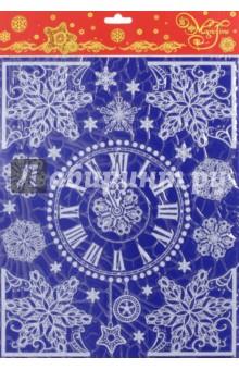 Украшение новогоднее оконное (41752)Аксессуары для праздников<br>Новогоднее оконное украшение.<br>Декорировано глиттером.<br>Размер: 30х38 см.<br>Предназначено: декор.<br>Материал: ПВХ пленка.<br>Сделано в Тайване.<br>