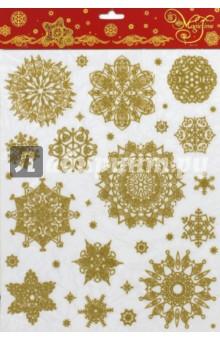 Украшение новогоднее оконное (38636)Аксессуары для праздников<br>Новогоднее оконное украшение.<br>Декорировано глиттером.<br>Размер: 30х38 см.<br>Предназначено: декор.<br>Материал: ПВХ пленка.<br>Сделано в Тайване.<br>
