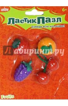 Набор ластики-пазлы Фрукты (4 штуки) (ERS2013)Ластики<br>Набор фигурных ластиков, которые разбираются на части. Для того, чтобы соединить детали в правильном порядке и получить готовую фигурку, порой требуется поломать голову!<br>Размер фигурок: 3-4 см<br>Материал: резина<br>Упаковка: блистер с подвесом<br>Для детей старше 6-ти лет.<br>Сделано в Китае.<br>