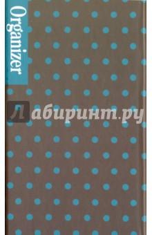 Органайзер трехблочный Принт горох (41306)Органайзеры<br>Органайзер трехблочный.<br>Состоит из записной книжки, планинга и книги адресов и телефонов.<br>Формат: 160х95 мм.<br>Внутренний блок: офсет<br>Крепление: склейка, спираль.<br>Переплет: твердый<br>Сделано в Китае.<br>