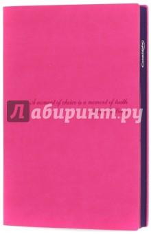 Ежедневник недатированный, А5. Розовый. Фиолетовый обрез. Интегральный переплет (42477) Феникс+