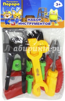 Набор инструментов Пороро (10 штук) (Т58827)Строительные инструменты<br>Игровой набор: инструменты, крепежные элементы.<br>Количество: 10 штук.<br>Материал: пластмасса.<br>Не рекомендовано детям младше 3-х лет. Содержит мелкие детали.<br>Сделано в Китае.<br>