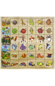 Развивающая игра Ассоциации (IG0051)Карточные игры для детей<br>Развивающая игрушка Ассоциации позволит развить ассоциативное мышление,  память, научит основам  классификации. <br>Эта игра обогащает словарный запас ребенка, способствует целостному восприятию, расширяет представление ребенка об окружающем мире и развивает любознательность.<br>Как играть в Ассоциации:<br>Рамка представляет собой деревянную панель, с нанесенными на нее изображениями. Чтобы получить целостный ряд, необходимо правильно подобрать таблички к каждой картинке. Вначале нужно показать ребенку, как играть с этой игрушкой. Для этого выньте таблички и подберите сами ассоциации к одной из картинок. Чтобы тренировать память, можно расставить ассоциативные таблички в определенном порядке и предложить ребенку его запомнить. Когда он отвернется, перемешайте таблички или выньте из панели и попросите ребенка расставить все так, как он запомнил.<br>Размер изделия: 300x300 мм.<br>Комплектность: 31 элемент (1 рамка-вкладка и 30 отдельных вкладышей)<br>Материал: дерево с элементами из бумаги<br>Предназначено для детей старше 3-х лет. <br>Сделано в России.<br>